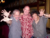mike keneally, henry kaiser, michael gulezian, dizzy's, san diego, california. photo: mark ross